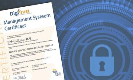 EM-Cultuur officieel ISO 27001 gecertificeerd!